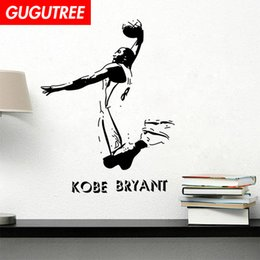 chinese famous paintings Australia - Decorate Home kobe bryant cartoon art wall sticker decoration Decals mural painting Removable Decor Wallpaper G-1618