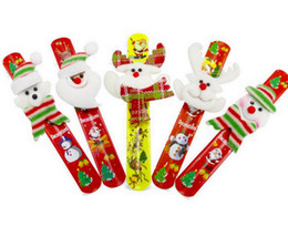$enCountryForm.capitalKeyWord Australia - New Rainbow Print Christmas Slap Bracelets Snowman Elk Luck New Year Bracelet Paipai Circle Toys For Kids Theme Party Gift Mix Design HWJ116