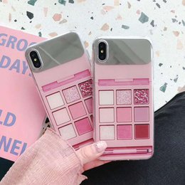 model mobile phone 2019 - Explosion models B715 for iphone 7 plus mobile phone shell 8 plus makeup mirror xs Max anti-drop iphone x xr fashion tre