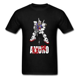 japan robot 2019 - Newtype Generation GUNDAM T-shirt Japan Anime Tops Tees Hip Hop Cotton T Shirts Robot Machine Clothing Black Tshirts che