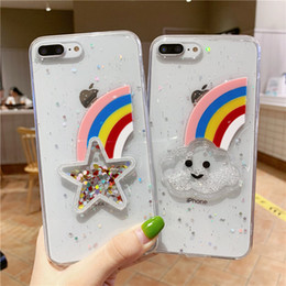 $enCountryForm.capitalKeyWord NZ - Newest 3D rainbow five-pointed star glitter quicksand transparent phone case for iphone X XR XS MAX 6S 7 8 plus huawei P30 Mate20