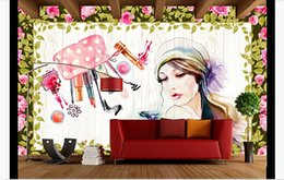 classic nails Canada - Custom wallpaper 3d murals Hand painted watercolor beauty beauty shop nail shop SPA background wall clothing store Art wall Painting