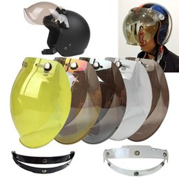 Discount motorcycle helmet pink visor - open face helmet bubble shield visor lens glasses Jet helmet 3-snap visor vintage motorcycle retro Jet TINTED SHIELD