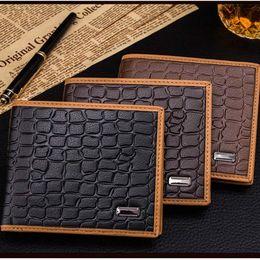 $enCountryForm.capitalKeyWord Canada - Men's Embossed Crocodile Short Wallet Hand Pocket Wallet Zipper Bag Case good quality Women Bag