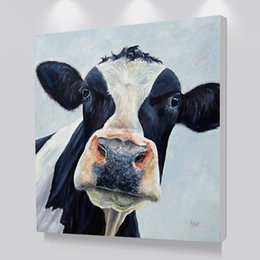 $enCountryForm.capitalKeyWord UK - Modern Cute Cow Wall Art Picture Printed Canvas Oil Painting On Prints Dropshipping Cheap Posters Prints For Living Room