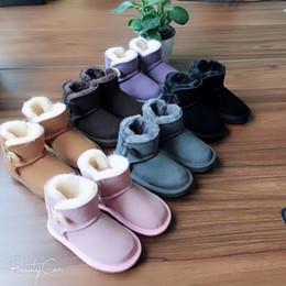 Boys design shoes online shopping - CLASSIC DESIGN SHORT BABY BOY GIRL WOMEN KIDS BOW TIE SNOW BOOTS FUR INTEGRATED KEEP WARM BOOTS EUR SZIE