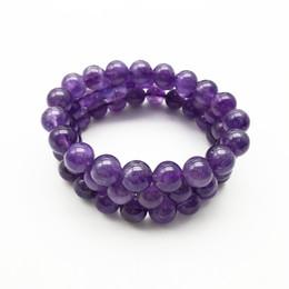 Wholesale 10mm Natural Amethyst Bracelet,Gemstone Bracelet, Amethyst Beads,Elastic Bracelet,Good Luck Bracelet