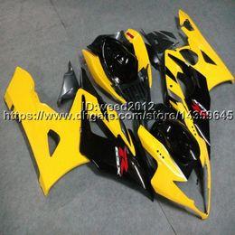 Gsx K5 Australia - Botls+Custom Injection mold yellow GSX-R1000 05-06 motorcycle cowl for Suzuki K5 GSXR1000 2005 2006 ABS Fairings