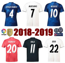 f0af69ced27 Top tier S-3XL 18 19 Real madrid third maillot home away MODRIC MARIANO soccer  jerseys ASENSIO VINICIUS football shirts AAA fotbul