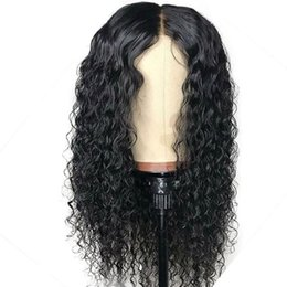 peruvian deep wave full lace wigs UK - Deep Wave Lace Front Human Hair Wigs 180 Density Pre Plucked Brazilian Human Hair Full Lace Human Wigs For Black Women