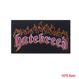Band Clothes For Australia - new arrival Hatebreed Hard Metal Rock Music Band Sew Iron On Embroidered Patch Applique for clothes iron on backing