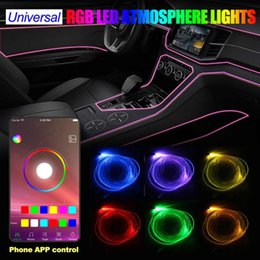 $enCountryForm.capitalKeyWord Australia - RGB LED EL Wire DC12V Auto Neon LED Cable Lamp Glow Flexible String Light Car Styling Colorful Tube Party Decoration