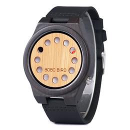 ca19ecbb8 BOBO BIRD B17 Wood Watch Men Creative 12 Holes Quartz Leather Strap Male  Wristwatch Drop Shipping with Paper Box Packaging