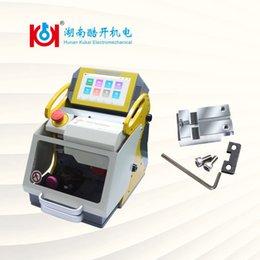Kukai SEC-E9 Máquina de corte de llaves con abrazadera de llaves HU162T Para VW Coche Llaves 2019 Nuevos proveedores de herramientas de cerrajería Ventas calientes 120W