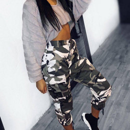 427ccdaed2f European Fashion Women Military Red Camo Cargo Pants Hip Hop Dance  Camouflage Trousers Femme Trousers Pantalon Mujer D18122701
