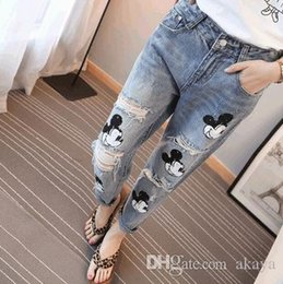 girls pencil jeans NZ - 2016 Special Offer Softener Pockets Patchwork Low Fashion Boyfriend Jeans for Women Hole Vintage Girls Denim Pencil Pants