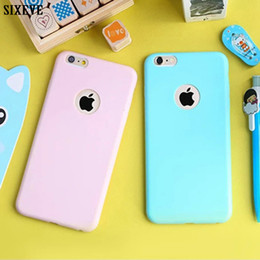 bumper case for cell phones Australia - Cute Soft Silicone Case For iPhone 6S 5S 5SE 5 6 S iPhone XS Max XR X 10 7 8 Plus 6Plus 7Plus 8Plus Bumper Cell Phone Back Cover