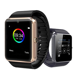 Touch Screen Watches For Men Australia - 2019 Bluetooth Smart Watch Men GT08 With Touch Screen Big Battery Support TF Sim Card Camera NFC Health For IOS iPhone Android Phone