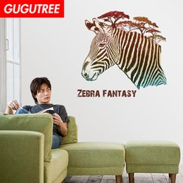 $enCountryForm.capitalKeyWord Australia - Decorate Home Zebra cartoon art wall sticker decoration Decals mural painting Removable Decor Wallpaper G-2363