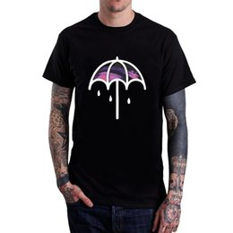 $enCountryForm.capitalKeyWord NZ - Men's Bring Me The Horizon Umbrella T Shirts Black Short Sleeve Different Colours High Quality Cute Tatoo Lover