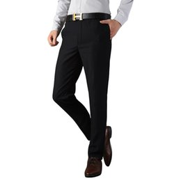 bd0b3069cd92 2019 Formal Wedding Men high-grade Suit Pants Fashion Slim Fit Casual Brand  Business Blazer Straight Dress Trousers black 27-37