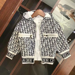 $enCountryForm.capitalKeyWord Australia - New children's brand B letter design jacket boy girl luxury cotton high-end jacket big plaid plus Space cotton jacket a2