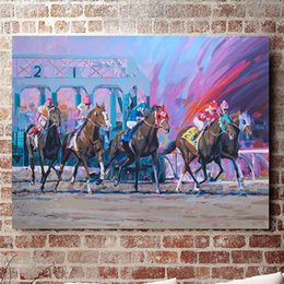 painting racing Australia - Horse Racing,Home Decor HD Printed Modern Art Painting on Canvas (Unframed Framed)