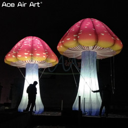Giant outdoor decoration inflatable mushroom with colorful LED,mushroom for hot sale on Sale