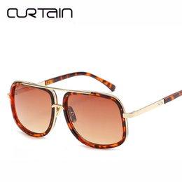 e5e49c0238 Curtain Lentes De Sol Hombre 2019 Fashion Hot Sale Square Sunglasses Men  Women Sun Glasses Luxury Female Gradien Shades UV 400