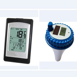 $enCountryForm.capitalKeyWord Australia - Solar Powered Wireless Pool Thermometer Swim SPA Pond Tub Waterproof Digital LCD Backlit Floating Temperature Transmitter Meter
