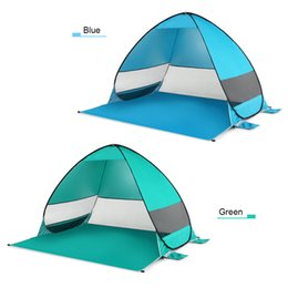 tents for camping NZ - Oudoor Windproof Automatic Pop Up Tent Waterproof Ultralight Camping Tent Canopy Sun Shelter For Beach Camping Fishing Hiking