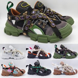 Discount womens shoes black crystals - Flashtrek Sneaker with Removable Crystals Mens Luxury Brand Designer Sneaker Casual Shoes Mountain Climbing Shoes Womens