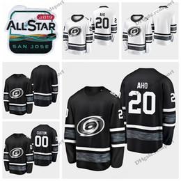 a52fadeb3 2019 All Star Sebastian Aho Carolina Hurricanes Hockey Jerseys Black White  Shirts Customize  20 Sebastian Aho Stitched Jerseys S-XXXL