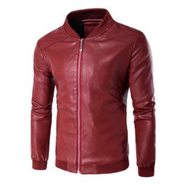 jacket motorcycle off road NZ - Spring Autumn Motorcycle Leather Jacket Men Moto Jacket Riding Racing Motorbike Clothing Motorcycle Off-road Coat