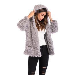 $enCountryForm.capitalKeyWord UK - Winter Grey Wool Overcoat Warm Outerwear Women Pink Faux Fur Coat Turn Down Collar Long Sleeve Cardigan Female Outwear YY5829
