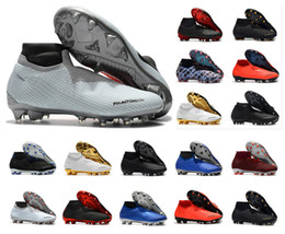 Discount size hot - Hot Phantom VSN Vision Elite DF FG & AG Game Over Shadow Mens High Ankle Soccer Cleats Football Shoes Size US6.5-11