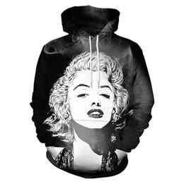 f49fb0d44afe New Fashion Women Men Marilyn Monroe With Smoke Art Funny 3D Printed Casual  Long Sleeve Autumn Winter Hoodies Sweatshirt K163
