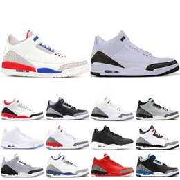 71c04077e00f86 2019 Mens 3 III Basketball Shoes New Mocha Black Cement Katrina Sport Blue  Top 3s Designer Shoes Sport Sneakers US 7-13