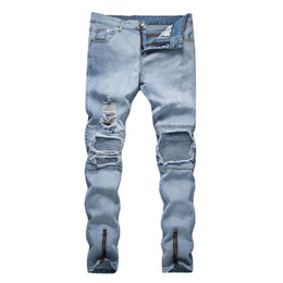 $enCountryForm.capitalKeyWord UK - New Men Hole Fashion Style Cool Jeans High Street Denin Ripped Casual Pants Straight Urban Wind Trousers