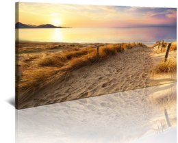 $enCountryForm.capitalKeyWord Australia - Seascape Pictures For Bedroom Bathroom DecorYellow beach Scenery Print on Canvas Framed Ready to Hang Modern Landscape Home Decoration Artw