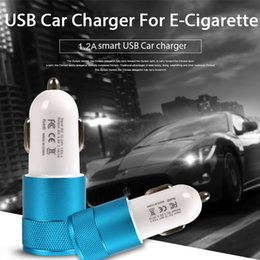 $enCountryForm.capitalKeyWord NZ - Newest Dual USB Charger For E-cigarette Car Smart Phone Tablet Adapter2.1A Auto Vehicle Metal Charger Electronic cigarette Mini car charger