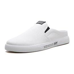 Men Heel Platform Shoes Australia - 2019 New Summer Trend Design Platform Men Shoes Flat Heels Soft Comfortable Mens Leisure Slippers Mans Collocation Outside Shoes
