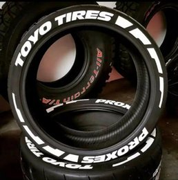 """Wholesale Toyo Tires Proxes Tire Stickers Wheels Label Lettering Decal 3D Fits 14"""" To 22"""" Tires (20 Decal Kit) New Desing"""