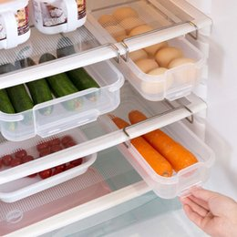 food compartment box Australia - Drawer Type Refrigerator Storage Box Creative Compartment Rack Kitchen Fruit Vegetables Food Plastic Partition Crisper Box
