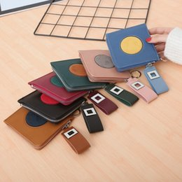 $enCountryForm.capitalKeyWord UK - Leather Coin Purse Women Small Wallet Change Purses Mini Zipper Money Bags Childrens Pocket Wallets Key Holder Porte Monnaie