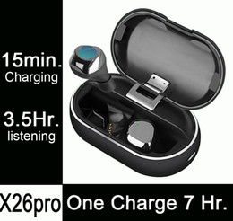 Wireless Headphones One NZ - 1pcs X26pro, 7 Hours Listening on One Charge, Fast Charging, Mini Wireless Bluetooth Headphones Earphones Earbuds PK i10 i12 i20 i17 tws