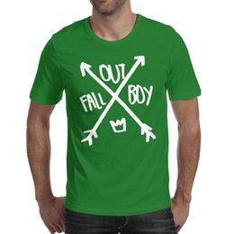 Boys Rock Tees UK - Fall Out Boy symbol arrow rock green t shirt,shirts,t shirts,tee shirts shirt design funny cool t make a superhero band athletic t shirt