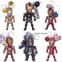 Spiderman figureS online shopping - Avengers Figures Keychain Iron Man PVC Doll Key Backpack Pendant Accessories Hulk Iron Man Spiderman Key Holder Thanos Captain America