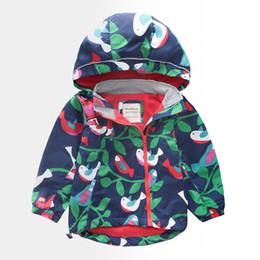 Children Animal Coats Australia - Kids Warm Winter Coat Fashion Boy Girl Cotton Animal Print Thicken Hooded Jacket Children Windproof Waterproof Zipper Outerwear