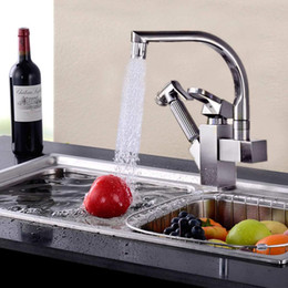 $enCountryForm.capitalKeyWord Australia - LED Light Kitchen Faucet Mixer Tap Single Handle Two Swivels Spouts Kitchen Hot Cold Water Tap Pull Out Flushing Spray